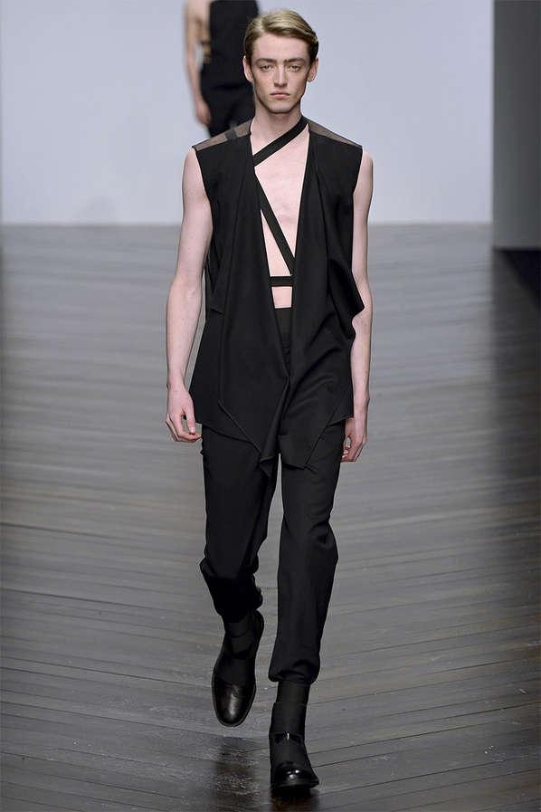 Minimalist Cutout Menswear