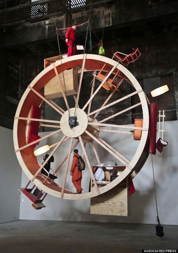 Giant Hamster Wheel Art