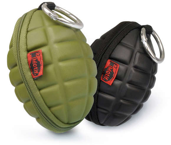 Hand Grenade Coin Case