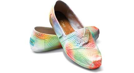 Splatter-Painted Shoes
