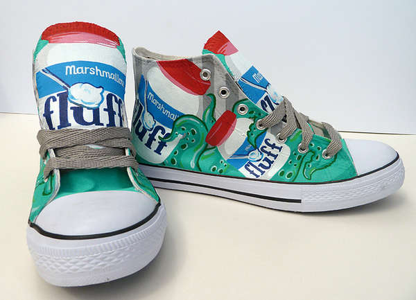 Eccentrically Patterned High Tops