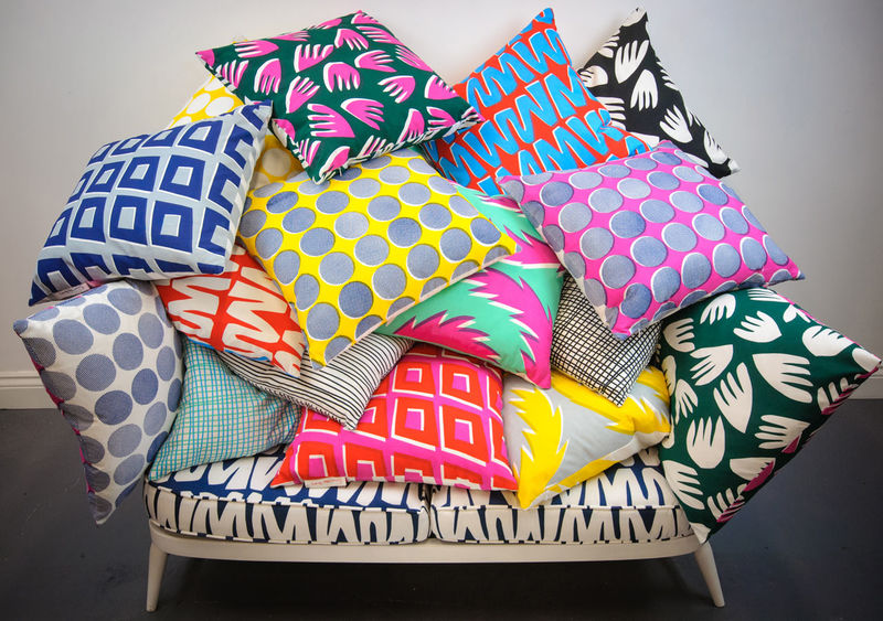 Hand-Printed Pillows