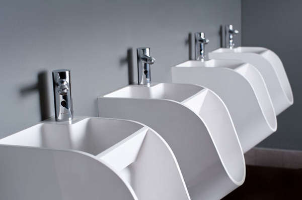 Hybrid Urinal Designs Hand Washing