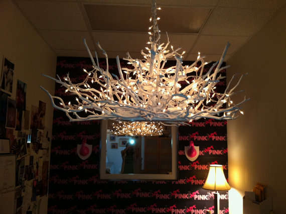 Antler Inspired Lighting Handcrafted Wooden Chandelier