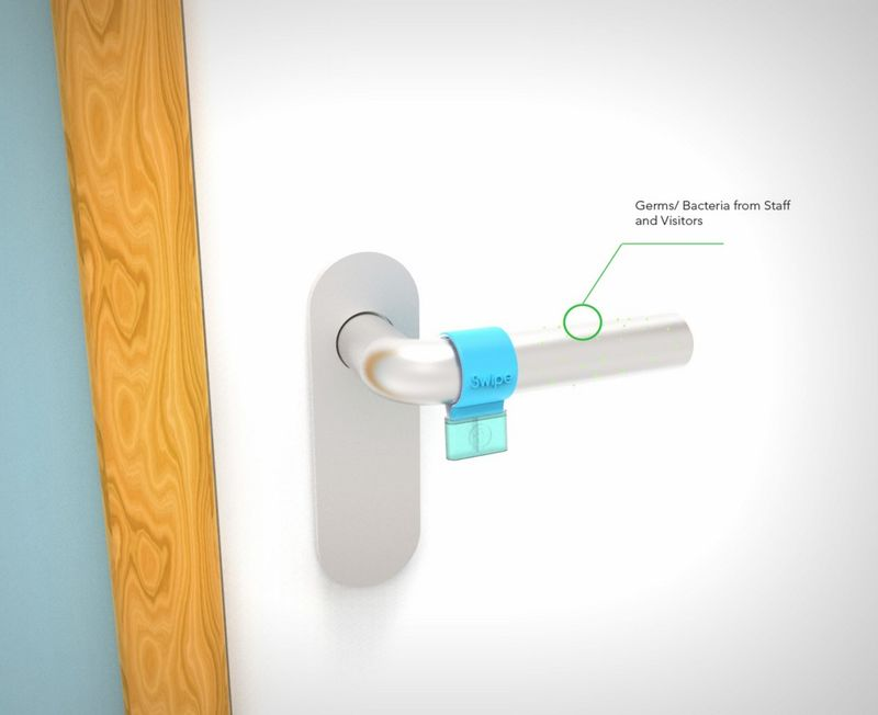 Door Handle-Disinfecting Devices