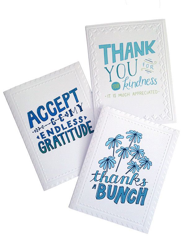 Hand-Lettered Thank You Cards