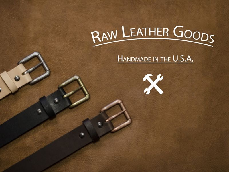 Vegetable-Tanned Leather Belts