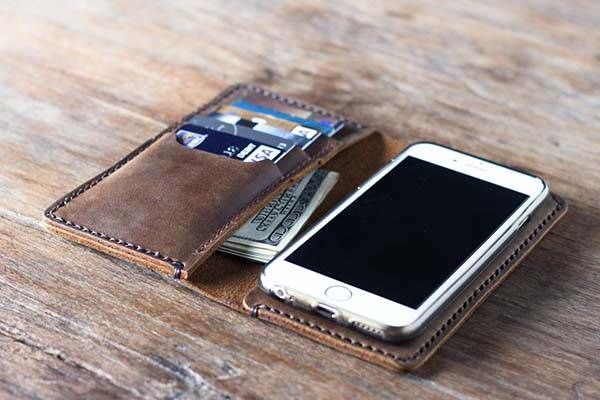 Handcrafted Custom Phone Wallets Handmade Leather Wallet
