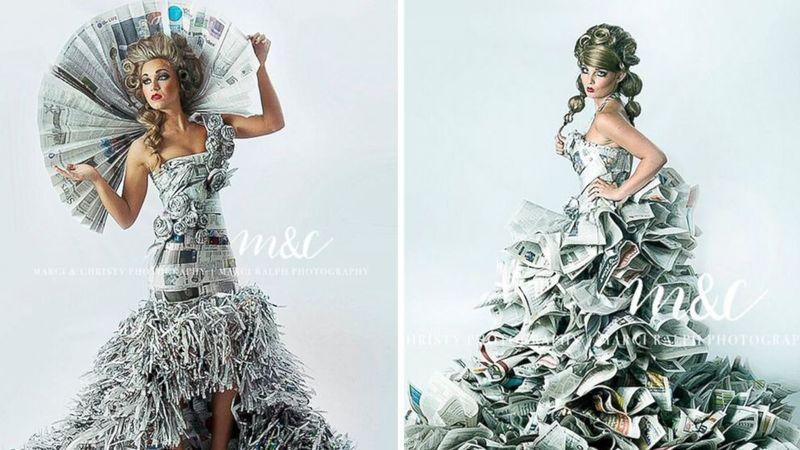 Newspaper Prom Dresses