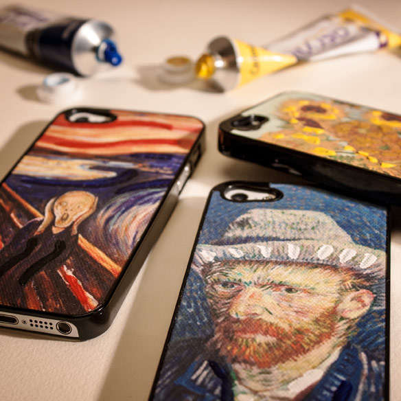 Hand-Painted Canvas iPhone