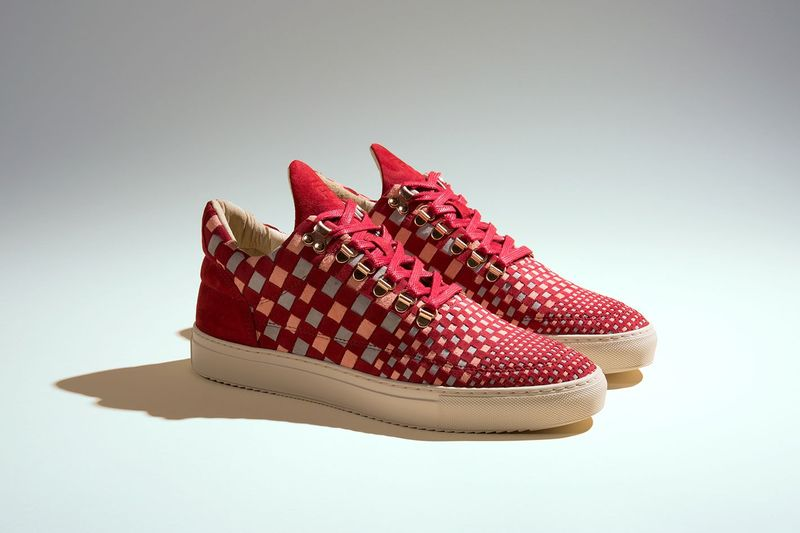 Rouge Woven Sneakers