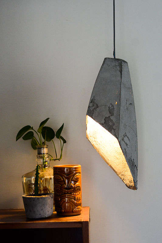 diy concrete illuminators hanging concrete lamp