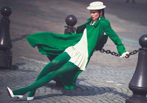 Colorblocked Parisian Fashion