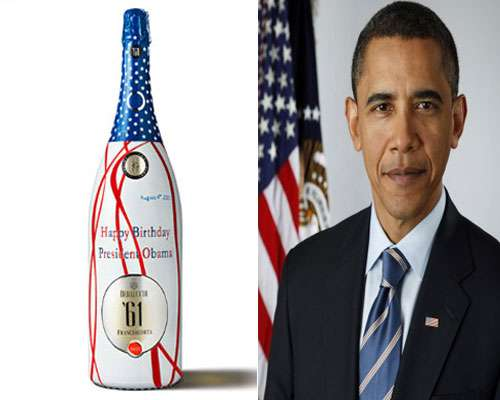 Happy Birthday Mr Obama Wine Bottle
