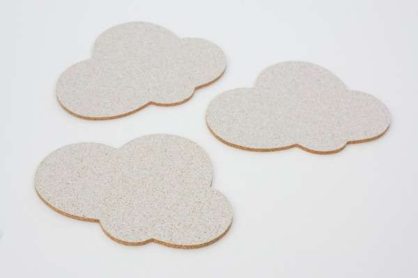 Happy Cloud Coasters by Barefoot Dynasty