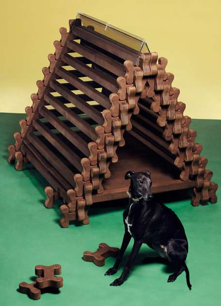 Tipi-Inspired Pooch Homes
