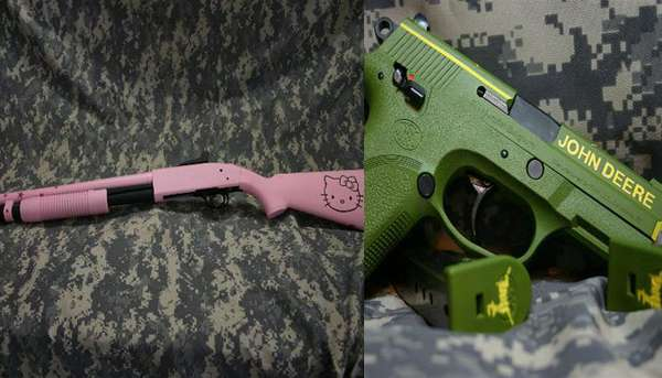 Personalized Painted Pistols