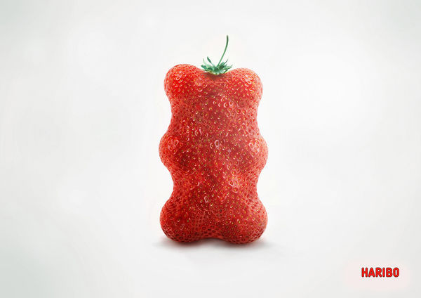 Gummy Bear-Shaped Fruit Ads