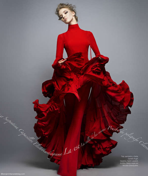 Elegantly Ruffled Editorials