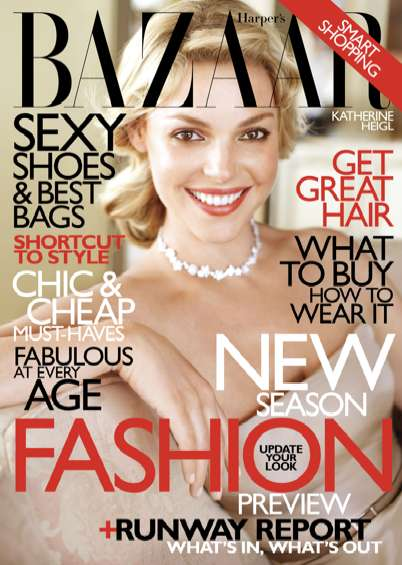harper's bazaar katherine heigl cover shoot