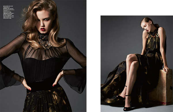 Darkly Glamorous Editorials