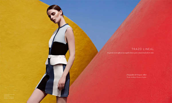 Geometric Backdrop Editorials