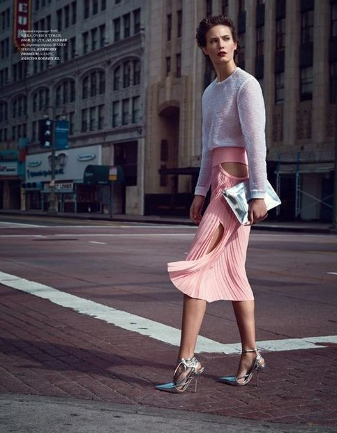 Pink Pedestrian Editorials