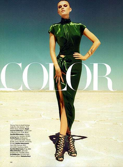 Harpers Bazaar September 2011 Color Story