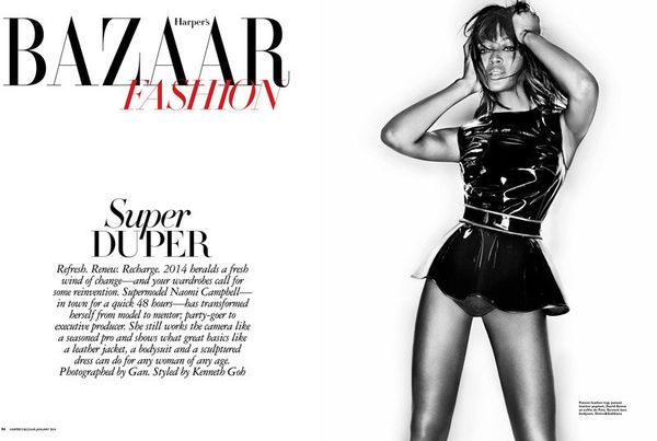Harper's Bazaar Singapore January 2014