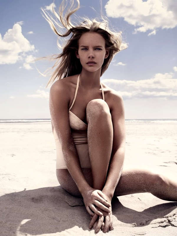 Rosy Beachwear Editorials