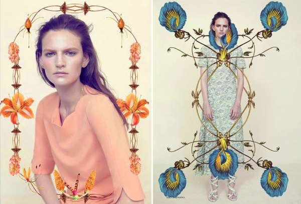 Floral-Framing Editorials