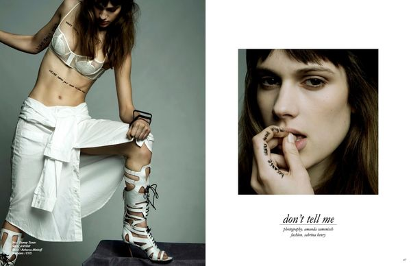 Racy Typographic Editorials