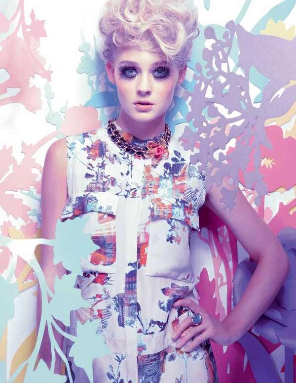 Flowery Pastel-Hued Ads