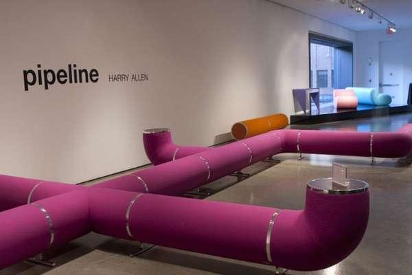 Purple Pipeline Seating