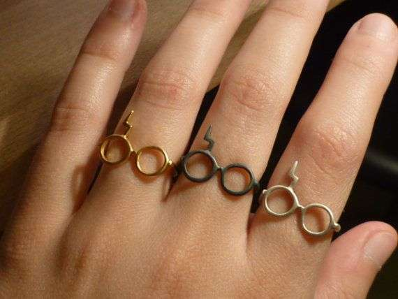 Harry Potter Lightning Glasses Ring