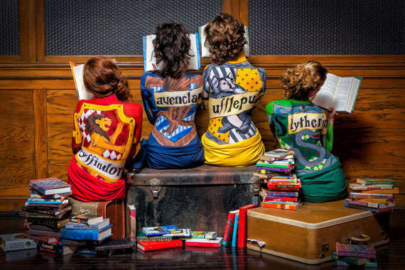 Body-Painted Hogwarts Makeovers