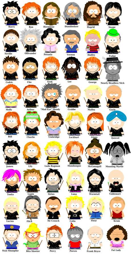 Mooscake Harry Potter South Park
