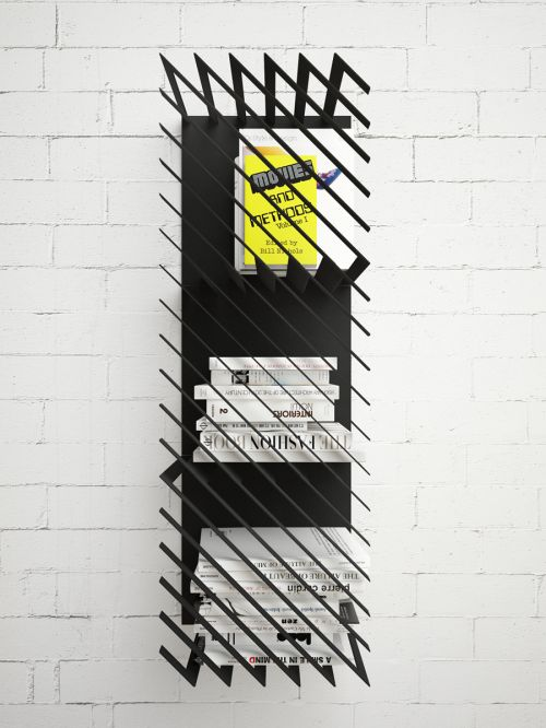 Bold Barred Bookcases