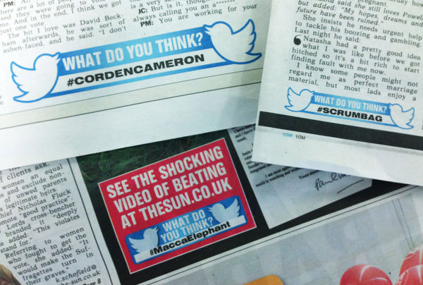 Printed Hashtag Headlines