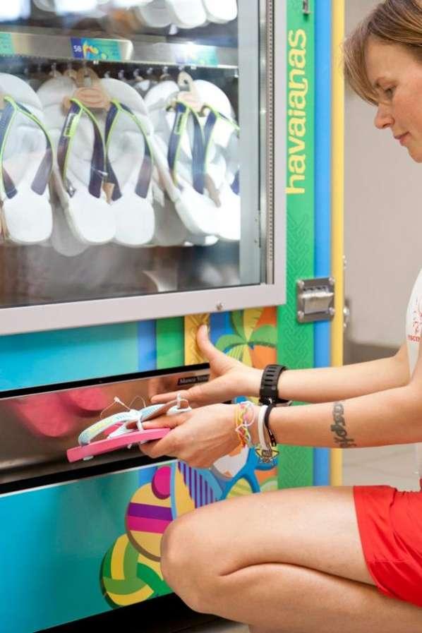 Beach Sandal Vending Machines