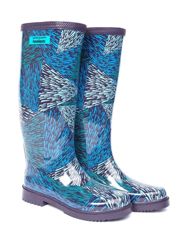 Quirky Paisley-Printed Wellies
