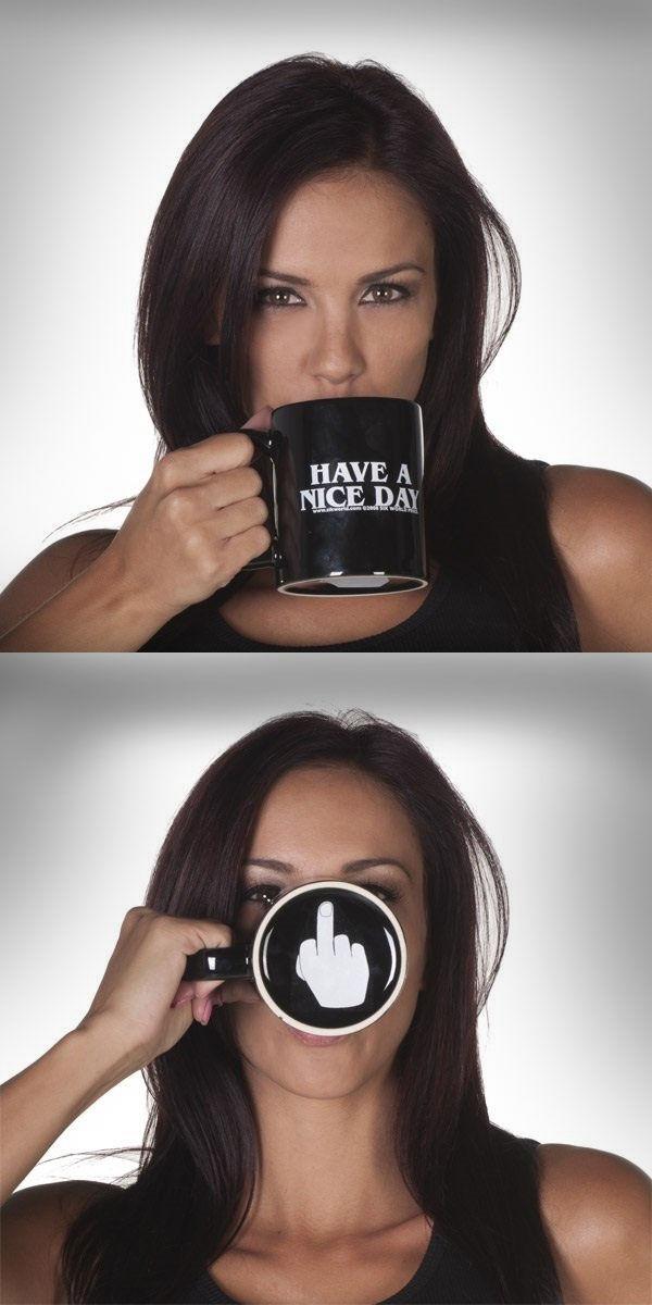 Obscene Gesture Mugs