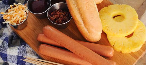 Hawaiian-Flavored Hotdogs