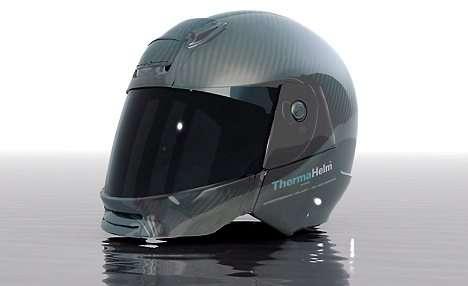 Futuristic Motorcycle Helmet