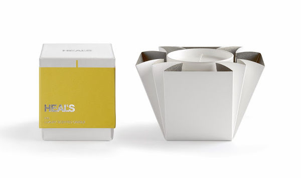 Heal's Candle packaging