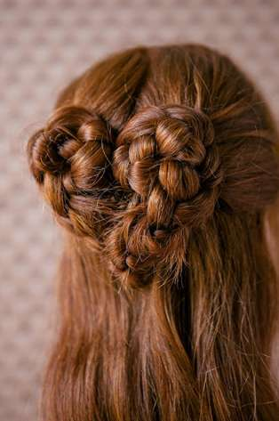 Romantic Twisted Hairstyles Heart Braid Tutorial