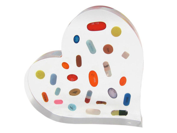 Pill-Popping Heart Sculptures