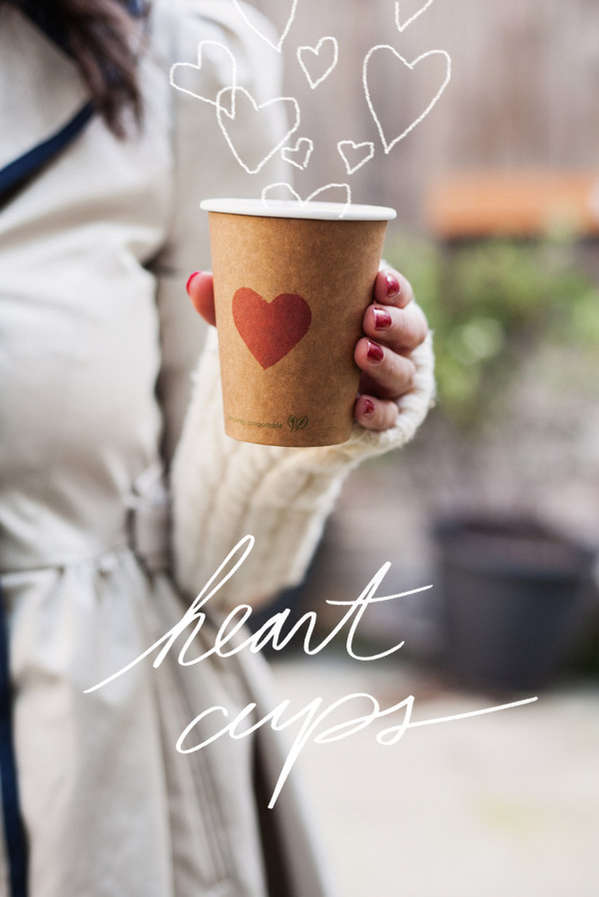 Customizable Heart-Stamped Cups
