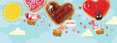 Romantic Heart-Shaped Donuts