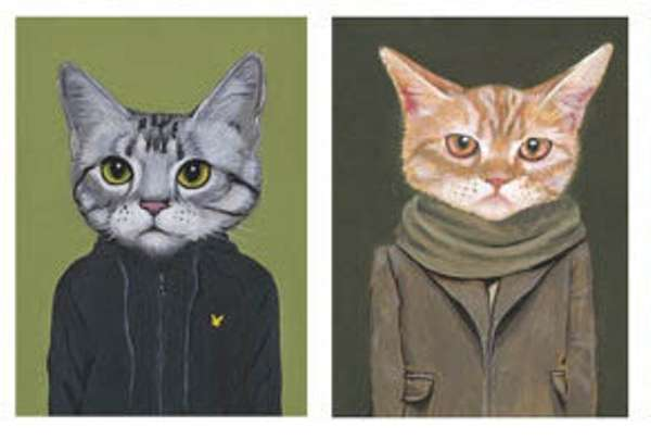 Cute Kitty-Clothed Portraits